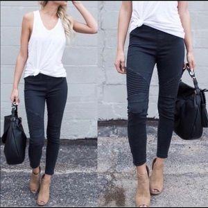 Denim - Moto Ankle zipped Black Skinny Jeans Sizes S-L